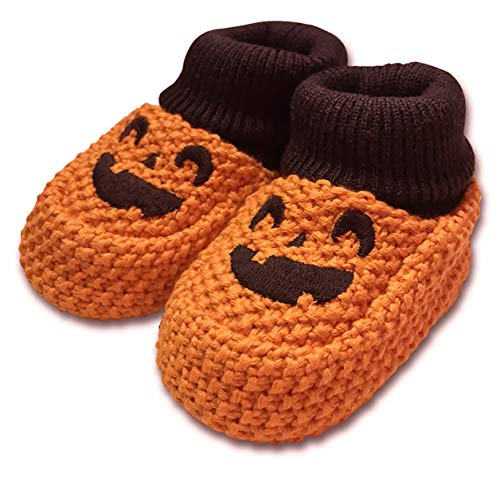 Carter's Baby Crocheted Pumpkin Halloween Booties (Newborn)