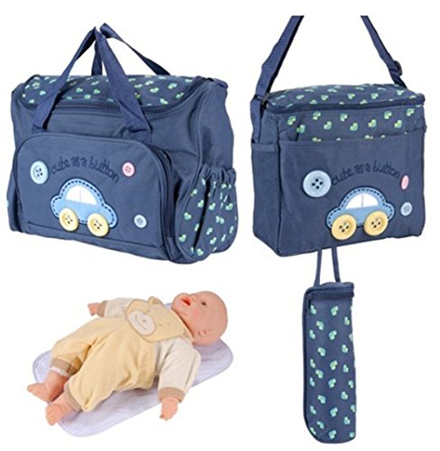 Enice 5pcs impermeable multifunción cambiador de bebé (5unidades) especial Mummy para botella de bolsa de hombro mochila de viaje rojo rosso profundo azul