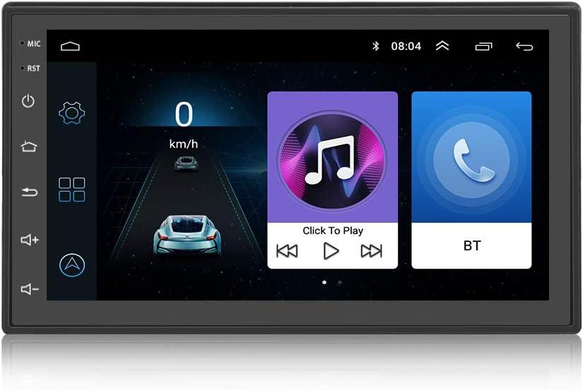 KKXXX KX1018 2 DIN Android 7.1 Música MP3 MP4 MP5 Autoradio Am FM Navegación GPS Enlace Espejo BT Llamada Manos Libres Control del Volante 7 Pulgadas Pantalla táctil 1GB RAM Quad Core