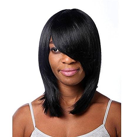 MENRY Peluca corta de Bob negro pelucas sintéticas para las mujeres , black: Amazon.es: Deportes y aire libre