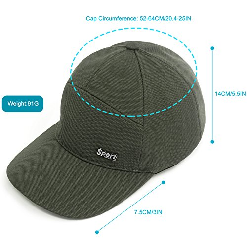 119588377f2 Lamdgbway Outdoor Men Baseball Cap Breathable Sun Protection Ball Cap Dad  Hat