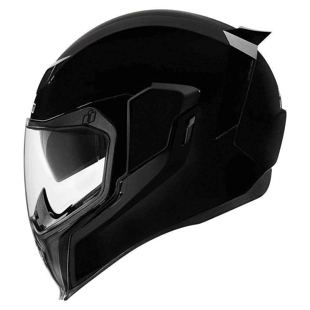 61 Icon Motorrad Airflite Helm Gloss schwarz gl/änzend NEUHEIT 2019 XL Gr/ö/ße