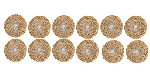Pack of 12 - Vetiver Bath Scrubber makes Body Cool, Shiny, Prevents Skin Diseases