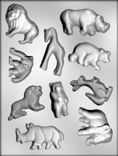 CK Products Large Zoo Animal Assortment Chocolate Mold ()