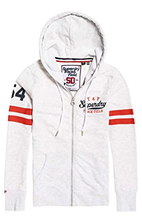 Superdry Track and Field Lite Ziphood Sweat à Capuche Femme
