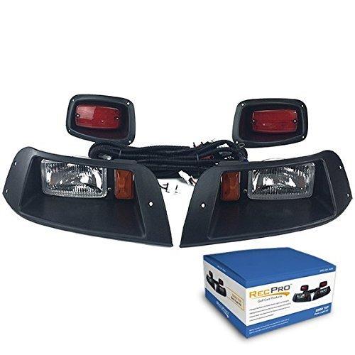 NEW RecPro EZGO TXT ADJUSTABLE GOLF CART HALOGEN LIGHT KIT w/LED TAIL LIGHT (Ez Golf Kit Cart Light Go)