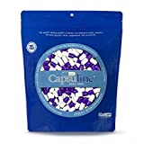 Colored Size 0 Empty Gelatin Capsules by Capsuline - Purple/White 1000 Count