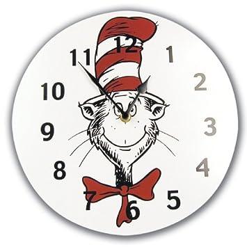 Dr. Seuss reloj de pared, gato en el sombrero