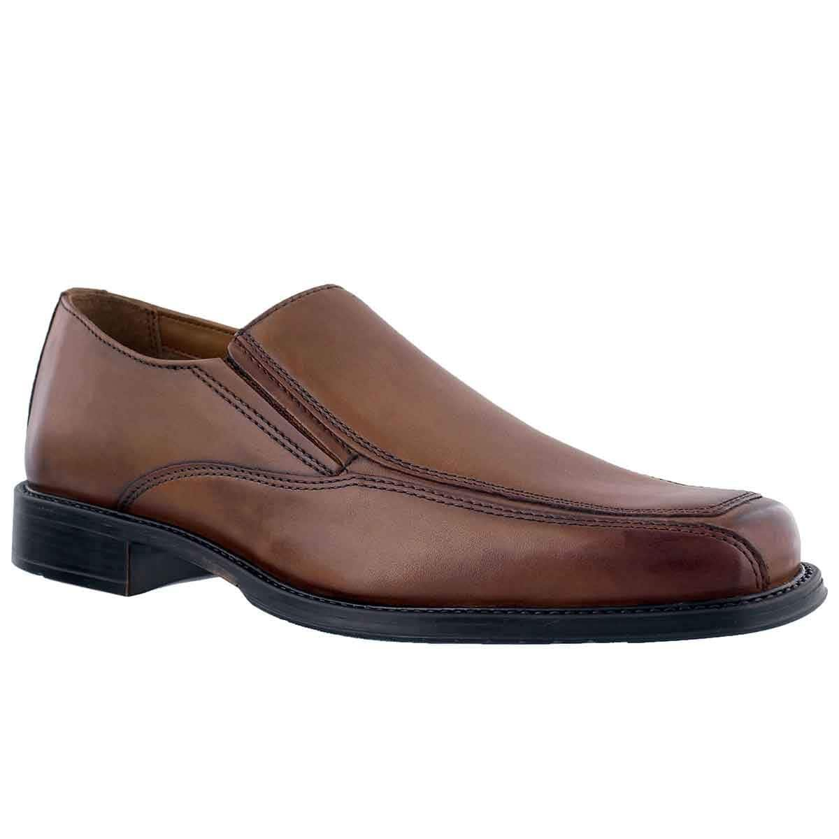 CLARKS Mens Driggs Free Loafer, Size: 8.5 D(M) US, Color Mid Brown Leather