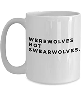 39913512ea8 Werewolves not swearwolves What we do in the shadows ceramic coffee mug  funny