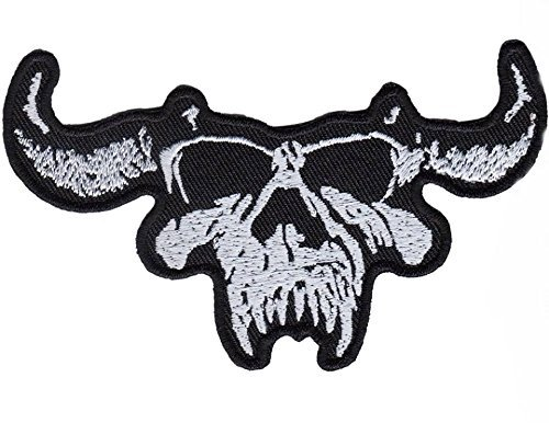 Danzig Skull Logo Rock Patch Sew Iron on Embroidered Applique Sign Vest Jackt T shirt Costume - Jour Mens