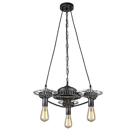 Amazon.com: DMMSS - Lámpara de techo vintage de hierro ...