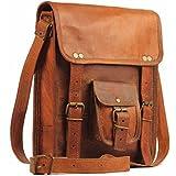 MONTEXOO Leather 11 Inch Sturdy Leather Messenger Satchel Bag Tablet Bag for Men Women