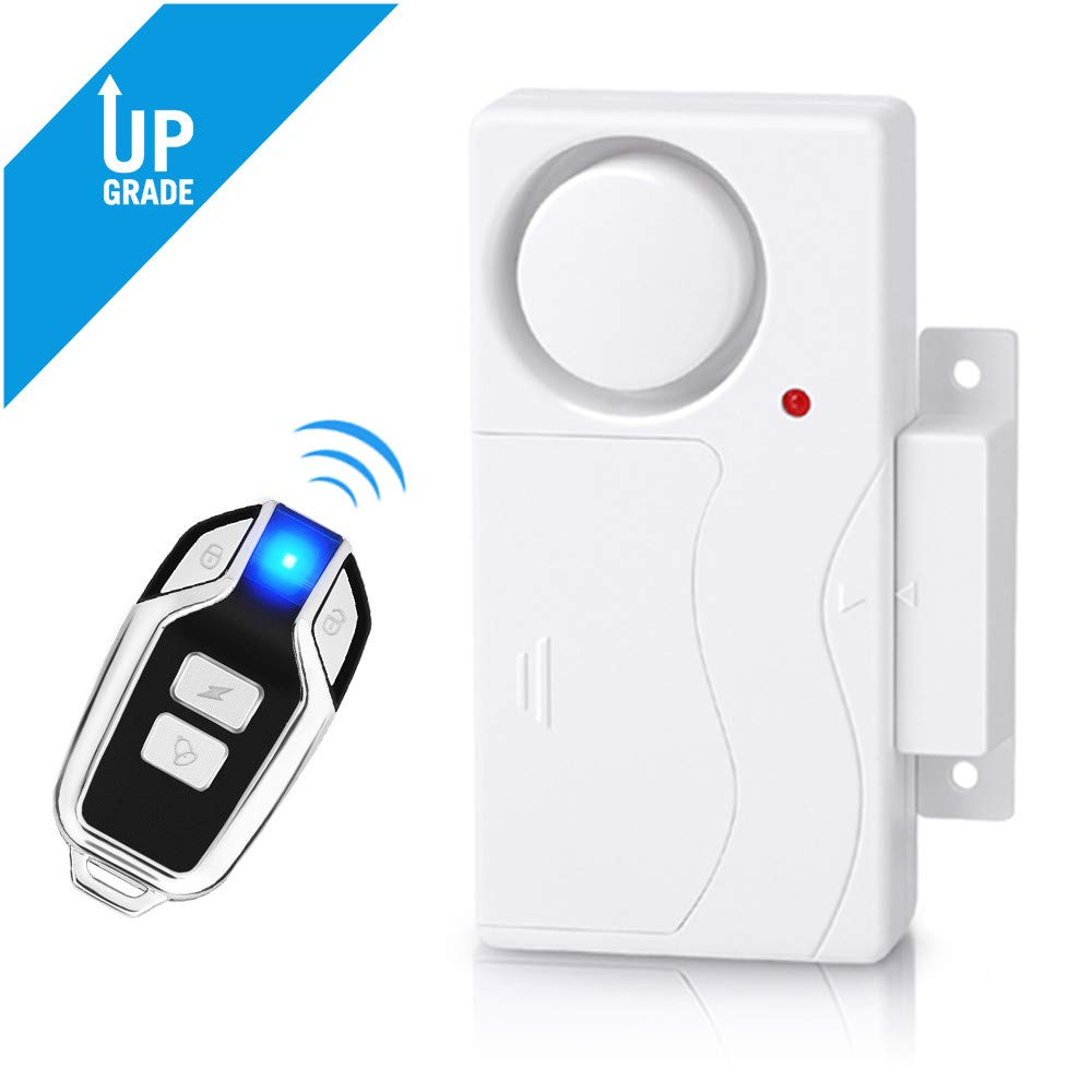 Wsdcam Wireless Door Alarm Anti-Theft Burglar Alert Window and Door Open Alarm Magnetic Sensor Pool Door Alarms for Kids Safety Home Security, 110 dB Loud, Door Alarm with Remote