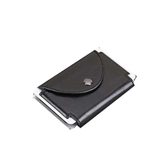 Yamyannie Crédito Tarjetas Billetera Caja de Regalo del Cepillo antirrobo del Bolso de la Tarjeta del Monedero del Hombre de la aleación de Aluminio de ...
