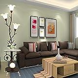 ETERN Modern minimalist coffee table floor lamp creative living room study bedroom bedside feeding table lamps ( Color : Black )