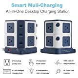 Surge Protector BESTEK 8-Outlet Power Strip and 40W 6-Port Smart USB with 1500 Joules Surge Protection