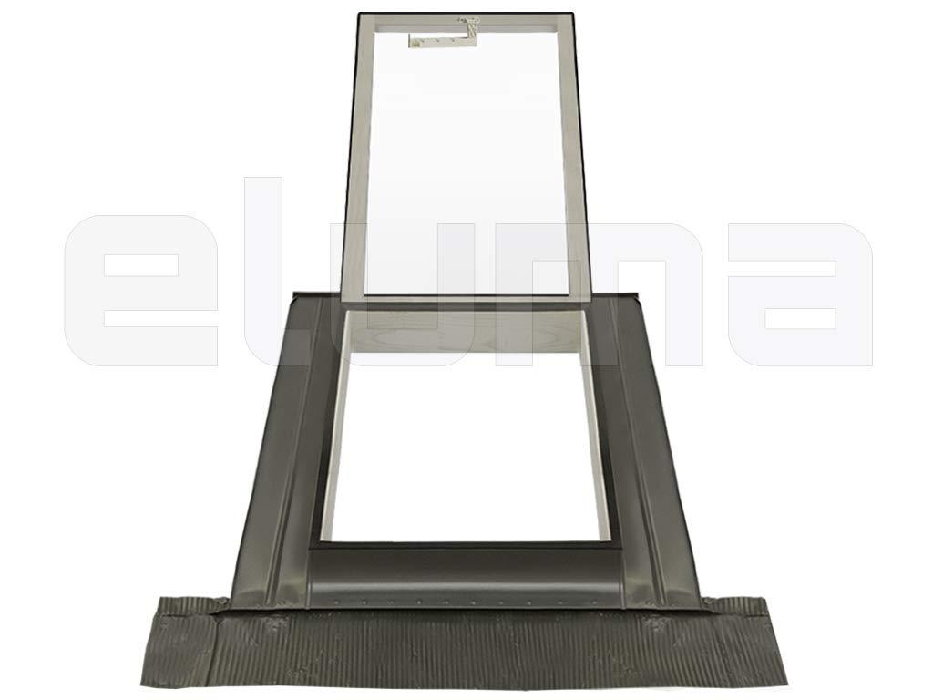 45x55 Base x Altezza Apertura tipo Velux Lucernario Accesso al tetto Finestra per tetto CLASSIC VASISTAS Doppio vetro