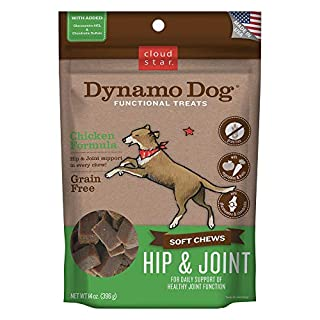 Cloud Star Dynamo Dog Hip & Joint Soft Chew Treats Chicken Formula - Grain Free - 14 oz (20132)