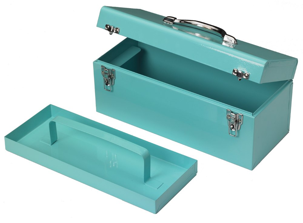 HER HARDWARE 17'' TOOL BOX WITH PARTS TRAY