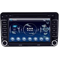 HIZPO Car DVD GPS RADIO Player Window CE 6.0 OS for VW Volkswagen CC Jetta Passat Tiguan Polo Golf Skoda Color Black 7 Inch Free Map Navigation Mp3 Player Canbus System