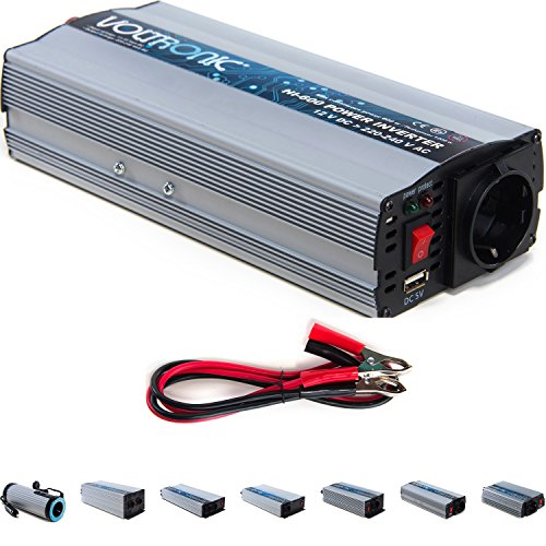 VOLTRONIC® MOD. SINUS Spannungswandler 12V auf 230V, 7 Varianten: 200 - 3000 Watt, e8 Norm