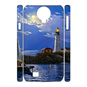 case Of Lighthouse 3D Bumper Plastic Cell phone Case For Samsung Galaxy S4 i9500