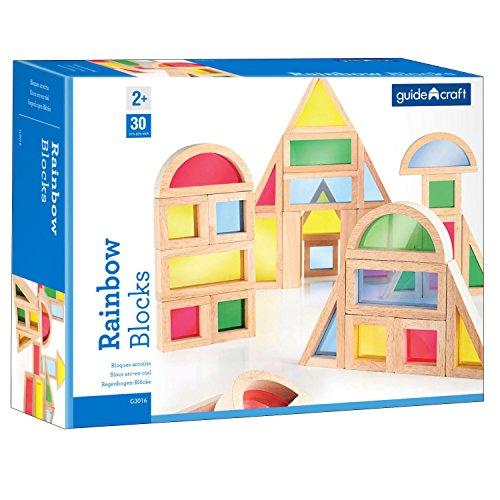 Guidecraft USA Rainbow Blocks Building - Blocks Rainbow Usa Guidecraft