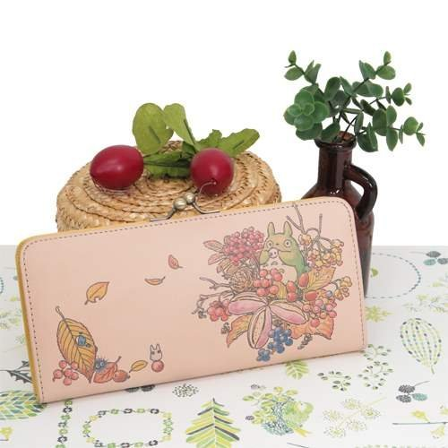 Studio Ghbli My Neighbor Totoro Long Type Wallet Art Leather Series Blooming Season from Japan by ensky