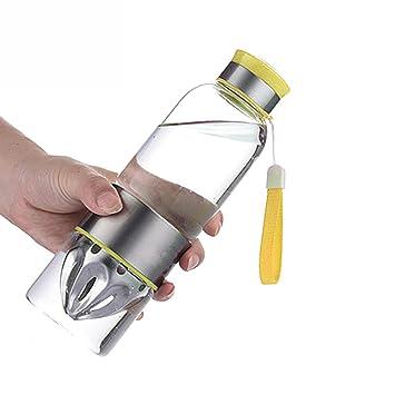 TAMUME 500 ML Botella de Agua Infusión de Fruta Vitamina de Fruta de Vidrio Juicer y