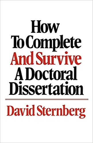 You've only created a distinguished dissertation.