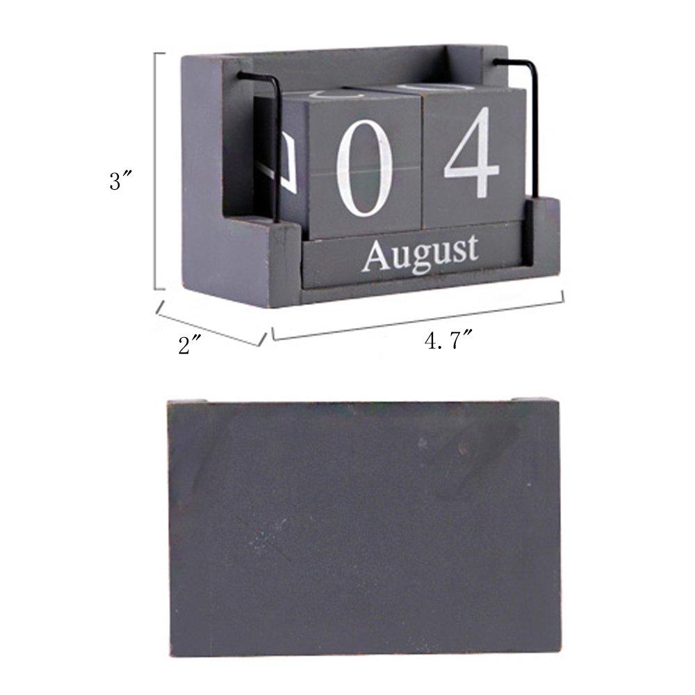 MyLifeUNIT Shabby Desktop Wood Block Perpetual Calendar by MyLifeUNIT (Image #5)