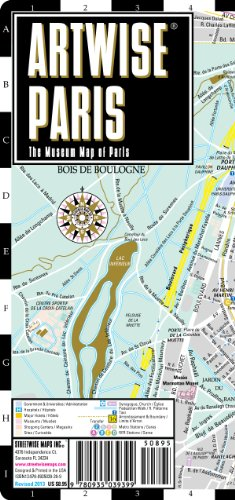 Artwise Paris Museum Map - Laminated Museum Map of Paris, FR