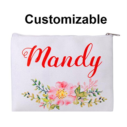 Personalized 16oz Makeup Bag, Custom Bridal Hen Party Bag, Bridesmaid Gift Bag, Canvas Cosmetic Bag (Print on 1 side only)