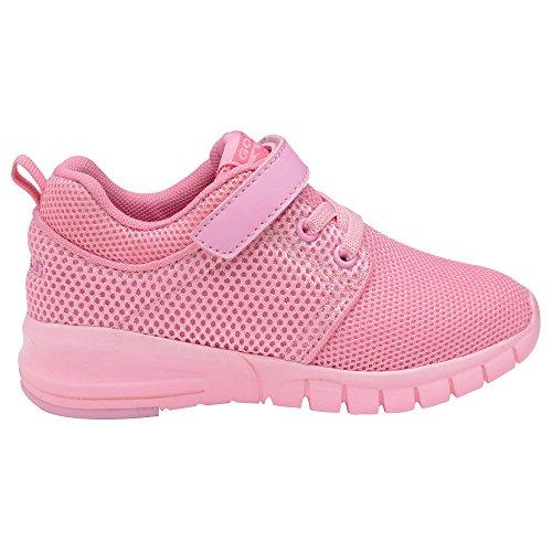 Gola Sport - Zapatillas deportivas ligeras con cierre adhesivo modelo Angelo para niños/niñas (32 EU/Rosa)