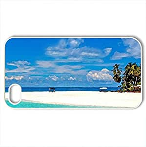 Big beach - Case Cover for iPhone 4 and 4s (Beaches Series, Watercolor style, White)
