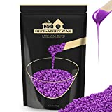 Lifestance Hard Wax Beans Hair Removal Kit, 1lb Large Refill Stripless Waxing Beans for Women Men Waxing Depilatory Violet Pearl Wax Beads