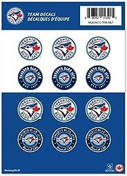 "Toronto Blue Jays 5"" x 7"" Team Mini Logos 12 Decal Sticker Set MLB Basebal"