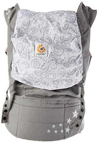 Ergo CREG00302 - Mochila portabebés fabricada en algodón y refuerzos de espuma (cuerpo: 12-16,5 cm, tirantes y correas ajustables), color gris