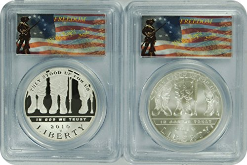 2010 Modern Commemorative W Set of 2 MS-70 Disabled Veterans $1 DCAM PCGS PR-70