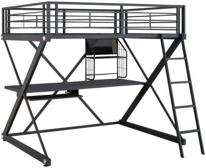 Powell Z-Bedroom Full Size Loft Study Bunk Bed