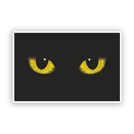 2 x Pegatinas de vinilo de gatos ojos Scary Halloween ...