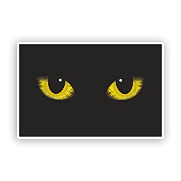 Amazon.com: 2 x Gatos Ojos pegatinas de vinilo Scary ...