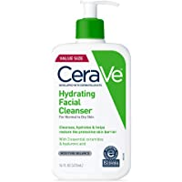 CeraVe Hydrating Facial Cleanser for Daily Face Washing, Dry to Normal Skin, 16 oz
