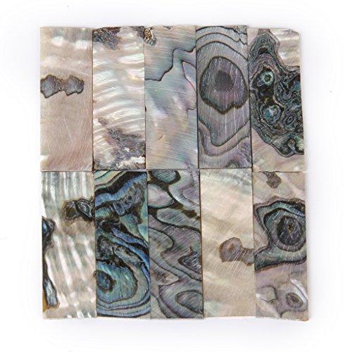 10pcs Inlay Material Green Abalone Shell Blanks Part