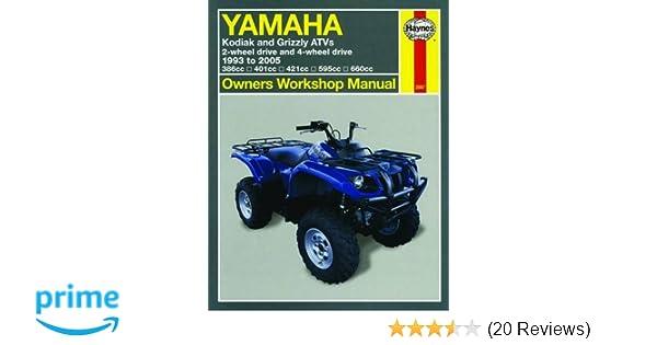 Yamaha kodiak grizzley atvs 1993 2005 owners workshop manual yamaha kodiak grizzley atvs 1993 2005 owners workshop manual haynes 9781563925672 amazon books fandeluxe Image collections