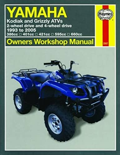 51DbRDGR7cL._SX386_BO1204203200_ yamaha kodiak & grizzley atvs, 1993 2005 (owners' workshop manual  at aneh.co