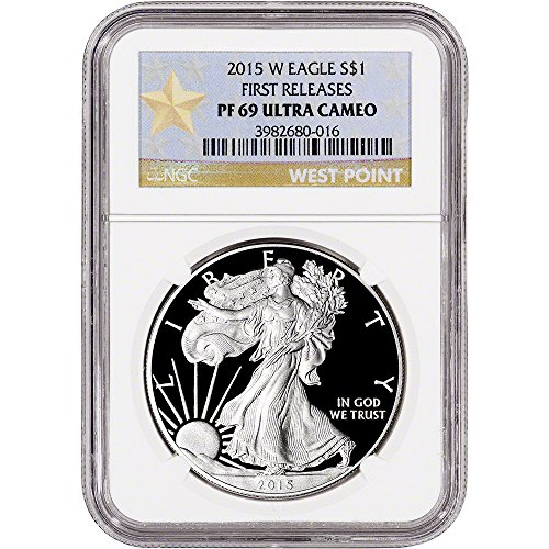 2015 W American Silver Eagle Proof First Releases West Point Star $1 PF69 NGC UCAM