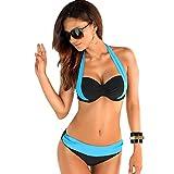zoo york khakis - Walid-Sexy Bikinis Swimwear Women Swimsuit High Waisted Bathing Suit Swim Halter Top Bikini Set (size L )