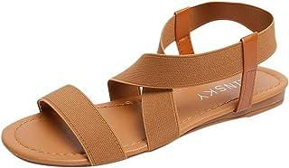 Femmes Bas Talon Anti skidding Chaussures de Plage Cross Strap Sandales Peep-Toe Sandales
